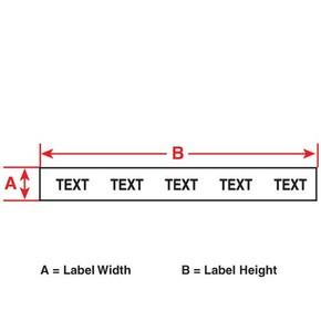 Этикетки-бирки полипропиленновые для маркировки патч-панелей Brady m71c-500-412, 12, 24 м