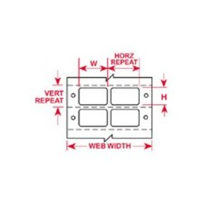 Этикетки Brady BCDAT-6-609-5 / 76,2x48,26мм