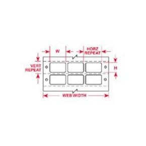Этикетки Brady BCDAT-10-619-10 / 50,8x9,53мм