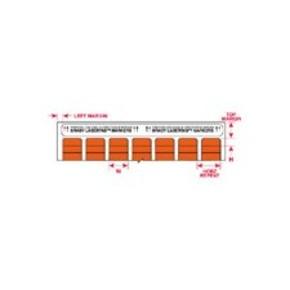 Этикетки Brady LAT-7-652-10 / 25,4x12,7мм, B-652