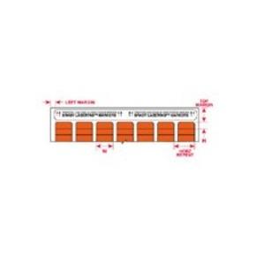 Этикетки Brady LAT-8-652-10 / 25,4x9,53мм, B-652