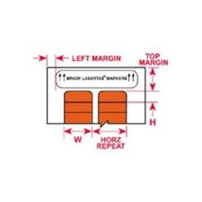 Этикетки Brady LAT-12-652-2.5 / 76,2x9,53мм, B-652