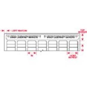 Этикетки Brady LAT-29-747YL-10 / 16,51x5,08мм, B-747