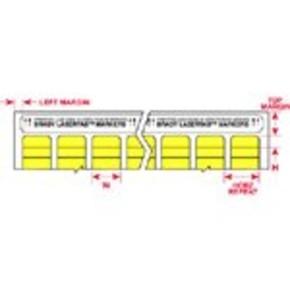 Этикетки Brady ELAT-3-747W-10 / 16x6мм, B-747
