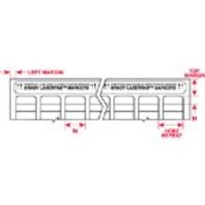 Этикетки Brady LAT-178-759-WT / 168,28x15,87мм