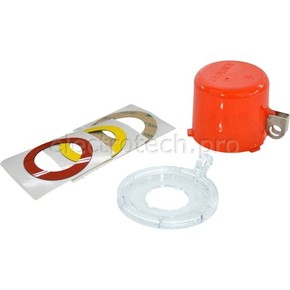 Блокираторы пусковой / аварийной кнопки большой Brady блокиратор, до 30 мм,три наклейки:, желтая,красный,красная,прозрачная, 55x73x9 мм, Комплект