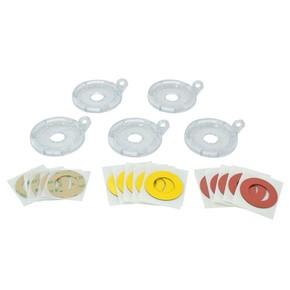 Дополнительное основание блокиратора кнопки Brady малое до 16 мм,.,наклейки:, желтая,красная,прозрачная, Комплект, 5 шт