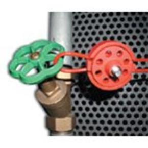 Устройство блокировки шаровых вентилей установка BP02 Brady, красный, 1 шт