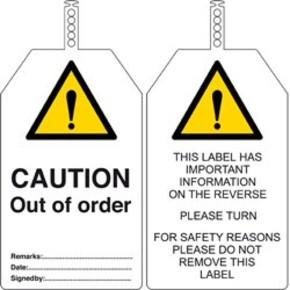 Бирка безопасности Brady в упаковке, «caution biohazard», 145x85 мм, ПВХ, 10 шт