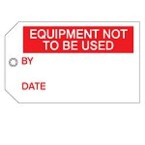 Бирка сигнальная Brady гибкий, «locked out», 75x160 мм, Полиэстер, 10 шт
