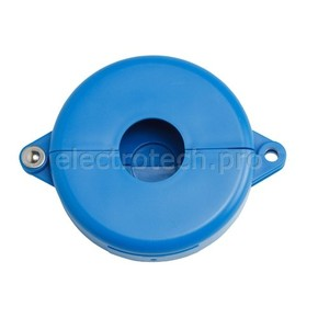 Блокираторы затворных вентилей раздвижной Brady блокиратор, синий, 64 мм