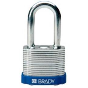 Замки стальные Brady цвет бампера, красный, 7 мм, 51 мм, Устойчив к низкой температуре, 1, 6 шт