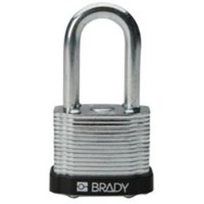 Замки стальные Brady цвет бампера, желтый, 7 мм, 51 мм, Устойчив к низкой температуре, 1, 6 шт