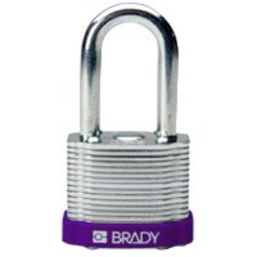 Замок безопасности стандартный Brady brady,стандартный,корпус,стальная дужка,цвет в упаковке, серый, 6,5 мм, 38 мм, Нейлон, Химически инертен, Электроизолированная личина, 1, 6 шт