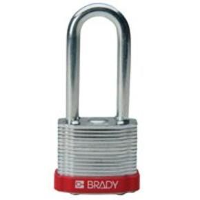 Замки компактные блокирующие Brady дужка, желтый, 4,7 мм, 25 мм, Алюминий, Химически инертен, Электроизолированная личина, 1, 6 шт