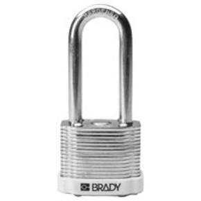 Замки компактные блокирующие Brady дужка, серый, 4,7 мм, 25 мм, Алюминий, Химически инертен, Электроизолированная личина, 1, 6 шт
