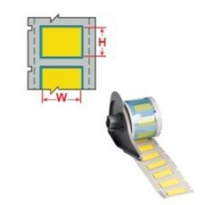 Трубка термоусадочная устойчива к дизелю Brady 3:1dps-3.2x50-b7646-yl-4s, желтая, 10000 шт