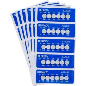 Этикетки Brady этикетка индикатор температур til-6-116c / 240f,в упаковке, 30 шт