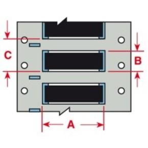Этикетки Brady PTL-2-457 / 50,8x6,35мм, B-457