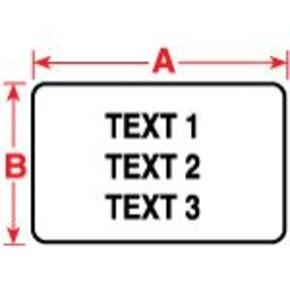 Этикетки Brady PTL-14-457 / 25,4x4,74мм, B-457
