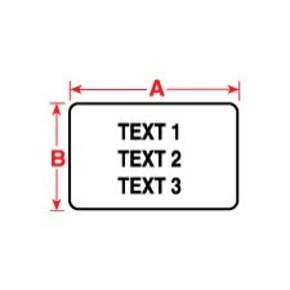 Этикетки Brady PTL-37-459 / 76,2x48,26мм, B-459