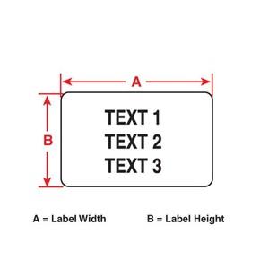 Этикетки Brady PTL-44-430 / 12,7x9,53мм, B-430