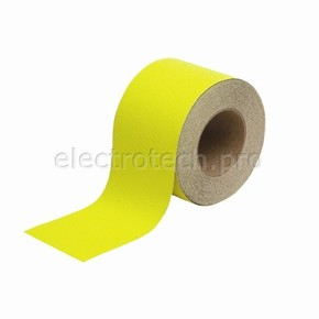 Лента антискольжения Brady anti-skid, желтая, 100x18000 мм, Рулон