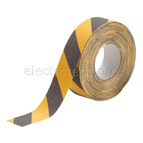 Лента антискольжения Brady anti-skid,черно- 1, желтая, 50x18000 мм, Рулон