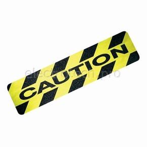 Ленты антискольжения для обозначения опасных мест Brady вырубленные накладки,24 накладки, «caution», 150x600 мм