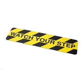Ленты антискольжения для обозначения опасных мест Brady вырубленные накладки,24 накладки, «watch your step», 150x600 мм