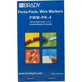 Маркеры кабельные Brady pwm-pk-4
