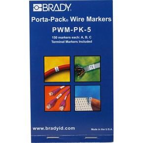 Маркеры кабельные Brady pwm-pk-5