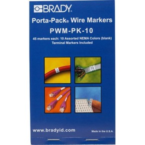 Маркеры кабельные Brady pwm-pk-10