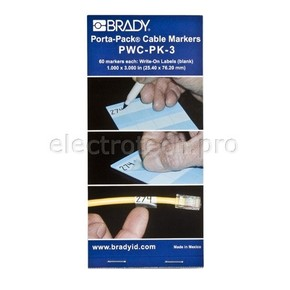 Маркеры кабельные Brady pwc-pk-3