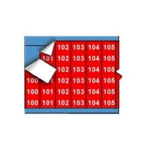 Маркеры кабельные Brady wm-100-124-rd