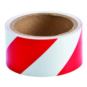 Cветоотражающая лента Brady дляразметки стен и пола, полиэстер, красно-белая, 50 мм × 4,5 м