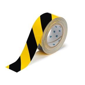 Лента напольная на подложке Brady toughstripe,материал в-514,черно, желтая, 50.8x30000 мм, Полиэстер