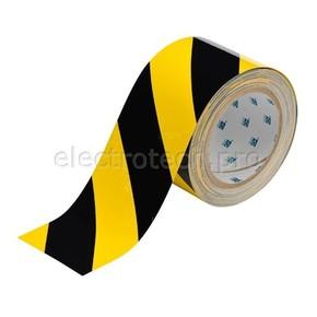 Лента напольная на подложке Brady toughstripe,материал в-514,черно, желтая, 76.2x30000 мм, Полиэстер