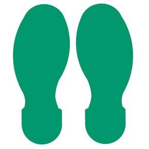 Следы маркировочные материал B-514 Brady 5 правых и 5 левых, зеленые, 89x254 мм, b-514, 10 шт