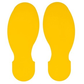 Следы маркировочные материал B-514 Brady 5 правых и 5 левых, желтые, 89x254 мм, b-514, 10 шт