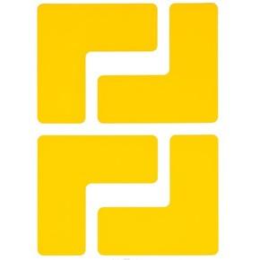 Обозначение угла Brady brady,форма l,. в упаковке, желтые, 127x50.8 мм, b-514, 20 шт
