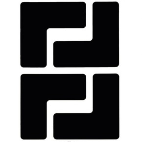Обозначение угла Brady brady,форма l,. в упаковке, черные, 127x50.8 мм, b-514, 20 шт