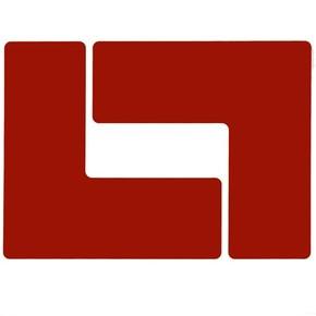 Обозначение угла Brady brady,форма l,. в упаковке, красный, 203.2x76.2 мм, b-514, 20 шт