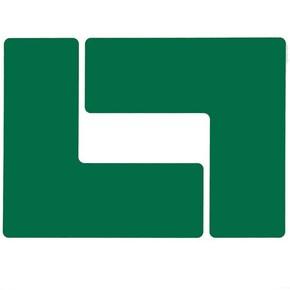 Обозначение угла Brady brady,форма l,. в упаковке, зеленые, 203.2x76.2 мм, b-514, 20 шт