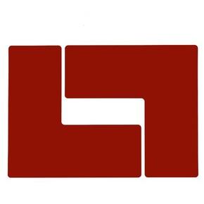 Обозначение угла Brady brady,форма l,. в упаковке, красные, 254x101.6 мм, b-514, 20 шт