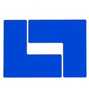 Обозначение угла Brady brady,форма l,. в упаковке, синие, 254x101.6 мм, b-514, 20 шт