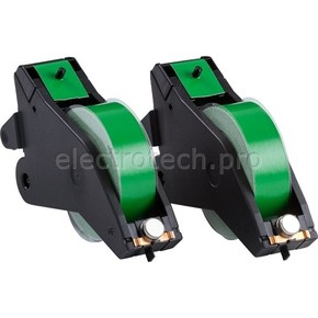 Система маркировочная, виниловая LabelizerPlus / VersaPrinter Brady 29 мм, зеленый,black, 27 м, b-595, 2 шт, Рулон