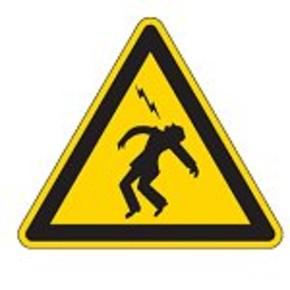 Знак безопасности предупреждающий высокое напряжение Brady 100 мм, b-7541, Ламинация, pic 307, Полиэстер, 250 шт