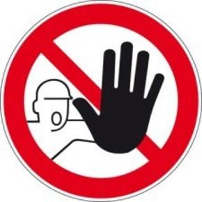 Знак дорожный въезд запрещен Brady 100 мм, b-7541, Ламинация, pic 229, Полиэстер, 250 шт