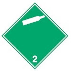 Знак маркировки грузов не горючий. не токсичный газ Brady adr 02, 100x100 мм, b-7541, Самоклеющийся, Винил, 250 шт